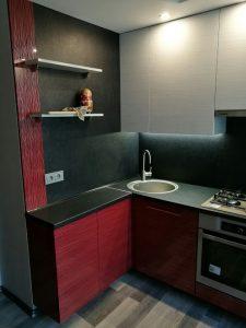 Tamsūs virtuvės baldai kaina